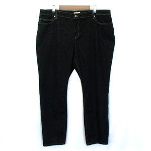 Eileen Fisher Black Organic Cotton Straight Jeans